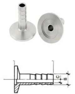 Adattatore KF Tubo Inox con schema 2