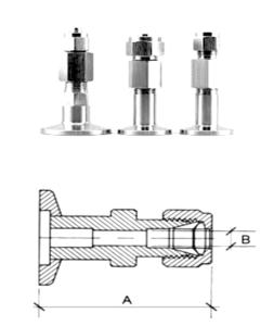 Adattatore KF Tubo Inox con schema