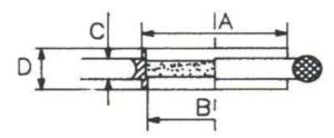 Anelli di centraggio filtro sinterizzato schema