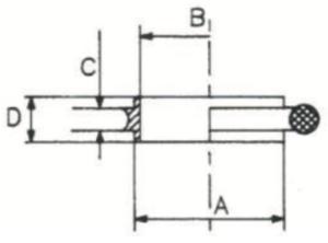 Anelli di centraggio schema