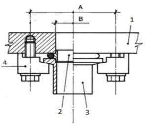 schema collegamento componenti flange