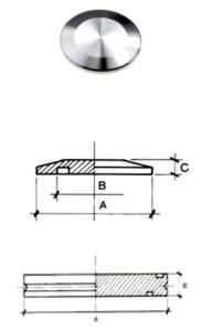 Flange cieche con schema