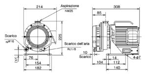 Schema pompa da vuoto scroll